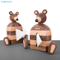 New Designed Creative Cute Mouse Shape Wooden Tissue Box Made From Walnut Or Beech