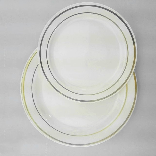Popular Disposable Round Plastic Charge Plate Dinner Set