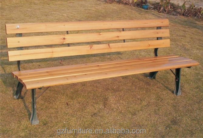 Long wood Seat Park Bench