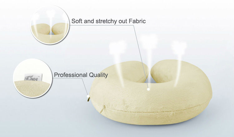 Plane Pillow Memory Foam Form U Shape Hoody Travel Neck Pillows Hooded Travel Neck Pillow With Cap