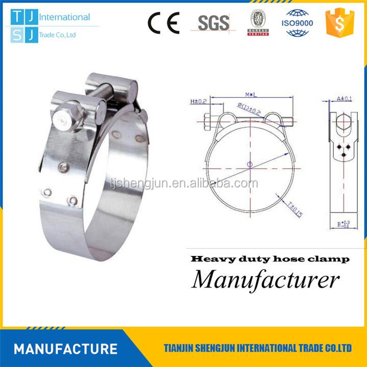New design heavy duty washer lined hose clamp