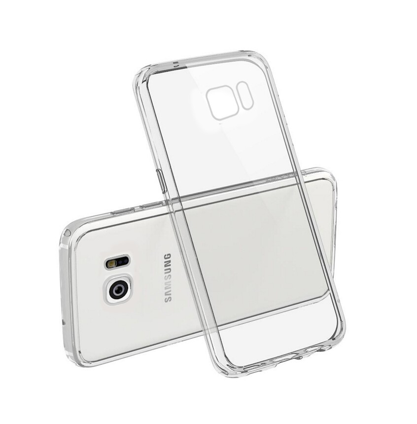 Transparent TPU bumper + PC hard back case for samsung galaxy s7 edge, for samsung galaxy s7 edge phone cover case