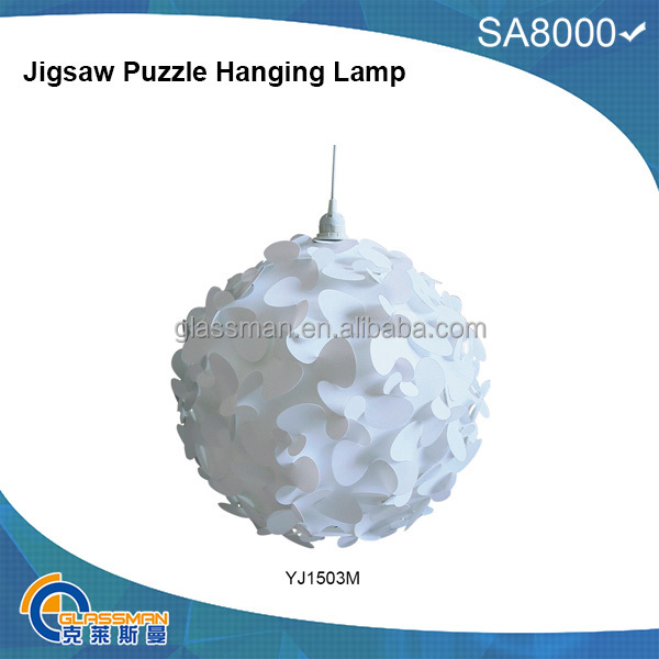 Puzzle Lamp & hanging lamp shades & jigsaw lights