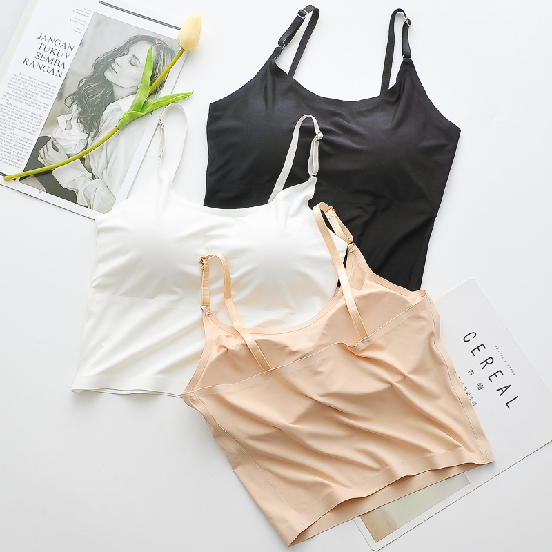 ice silk no pilling soft one piece camisole latest girl sport vest quick dry crop top