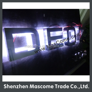 3D stainless steel led logo backlit led channel sign lighted metal letters