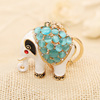 Nadasa Auspicious opal elephant Keychain Key Chain Korea Rhinestone men car creative gift multicolor cat