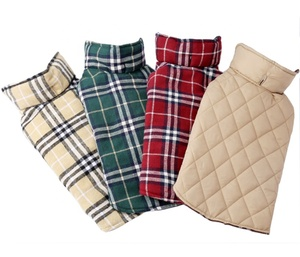 Reversible Plaid Dog Coat 7 Sizes Waterproof Windproof Warm for Cold Winter Weather Dog Jacket