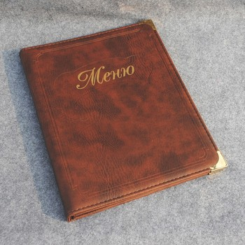 High grade menu covers for restaurant ,leather menu covers for hotels,restaurant leather menu covers
