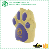 PU Material Dog Paw Stress Toy For Promotion