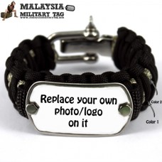 Dog Tag Paracord Bracelet Customized The With Photo Or Wording