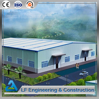 Easy assembly long span space frame cost of warehouse construction