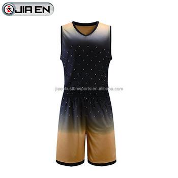 Wholesale Latest Korea Basketball Jersey Design Fashionable Black