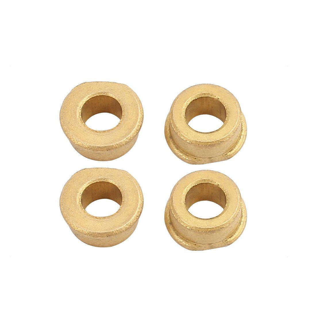 uxcell 2Pair 4mm Hole Dia Bronze Shaft Bushing Height 5mm Depth 8.2mm