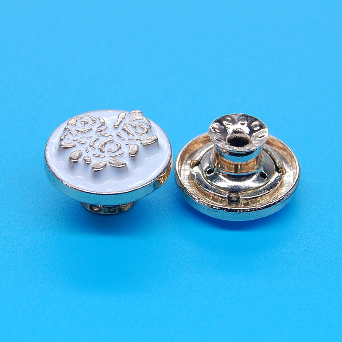 Chinese supplier jeans jacket alloy shank metal buttons