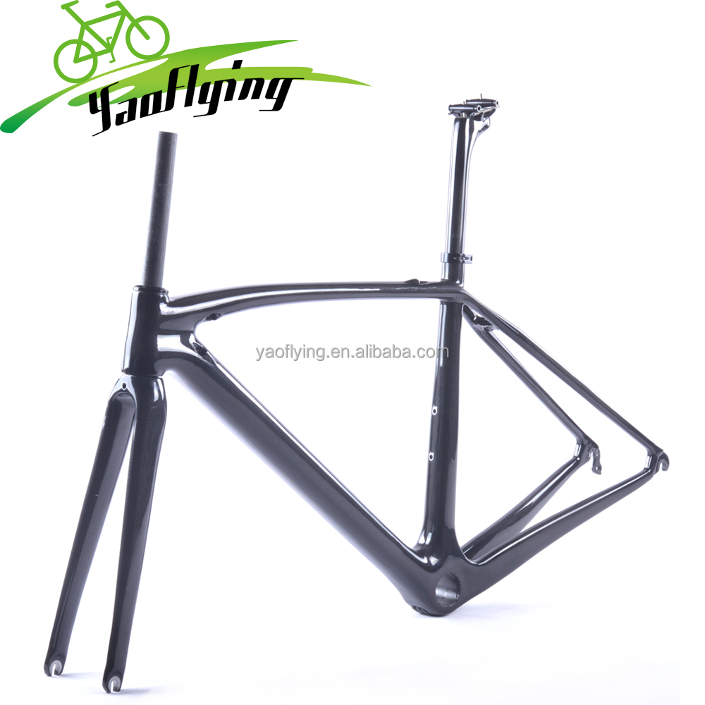 China cheap carbon road bike frame toray T800 carbon bicycle size in 49,52,54,56,58cm road carbon frame 2017