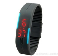 man Sport LED Watches Women Candy Color plastic Silicone Rubber Touch Screen Digital Watch