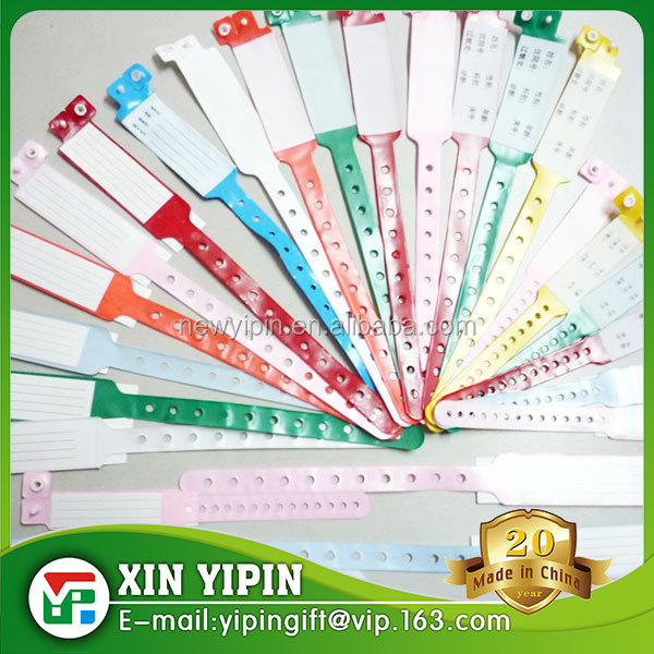 cheapest vinyl disposable medical wristband antibacterial and eco-friendly for patient Identification