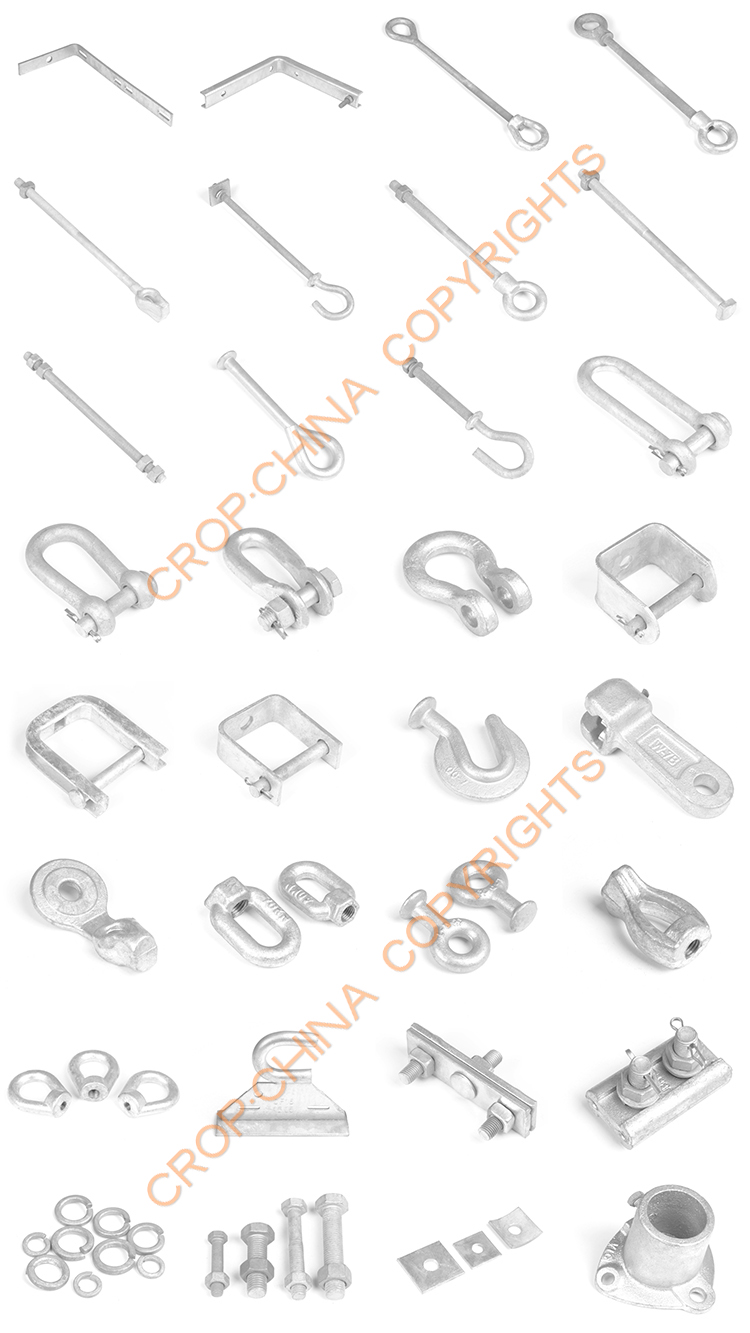 Hot-dip Galvanized Pole Line Hardware: Bolt,Nut,Stay Rod,Cross Arm,Link  Fittings - Buy Pole Line Hardware,Galvanized Bolt,Galvanized Nut Product on