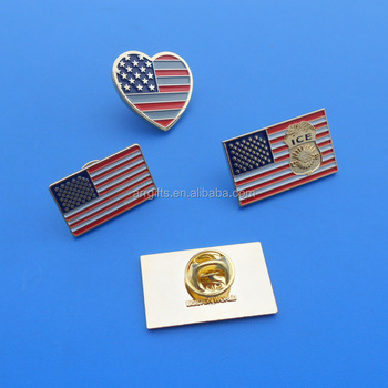 Usa Flag Pin Badge Iron Enamel United State Lapel Pin - Buy Customized  Retangle And Heart Shape Usa Flag Pin Badge,Enamel Pin Badge For National  Day