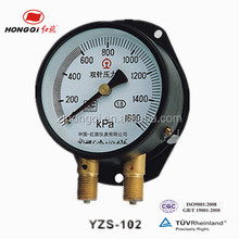 pressure gauge with double needle used in train or other engine