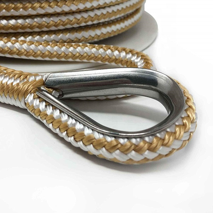 Double Braided Nylon Anchor Line with Stainless Thimble
