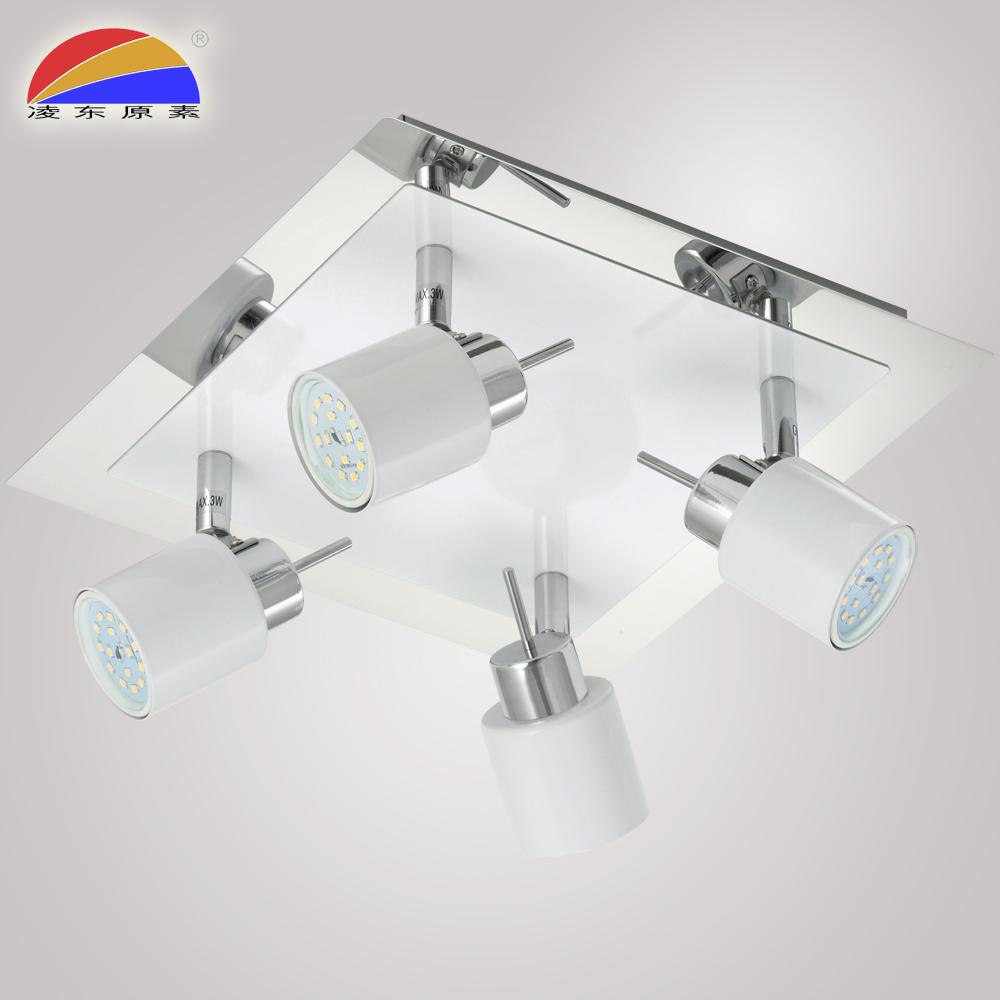 4 heads ways LED GU10 ceiling spotlight spot light bar for home hotel restaurant