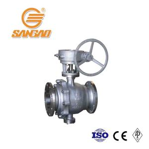 factory price soft seat WCB a216 3-pc flange ball valve 3pcs trunnion 300 psi