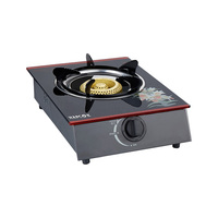 Factory good quality single cast iron burner glass top gas stove cooker