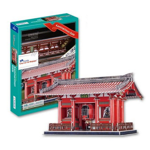 Kaminarimon Gate(Japan) famous building 3d paper model puzzle Kaminarimon Gate(Japan) famous building 3d paper model puzzle