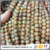 AB0692 Matte antique Tibetan agate gemstone beads,one-line round rustic Dzi agate beads