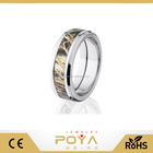 POYA Jewelry Duck Blind Mossy Oak Camo Rings, Camouflage Camo Wedding Bands Rings