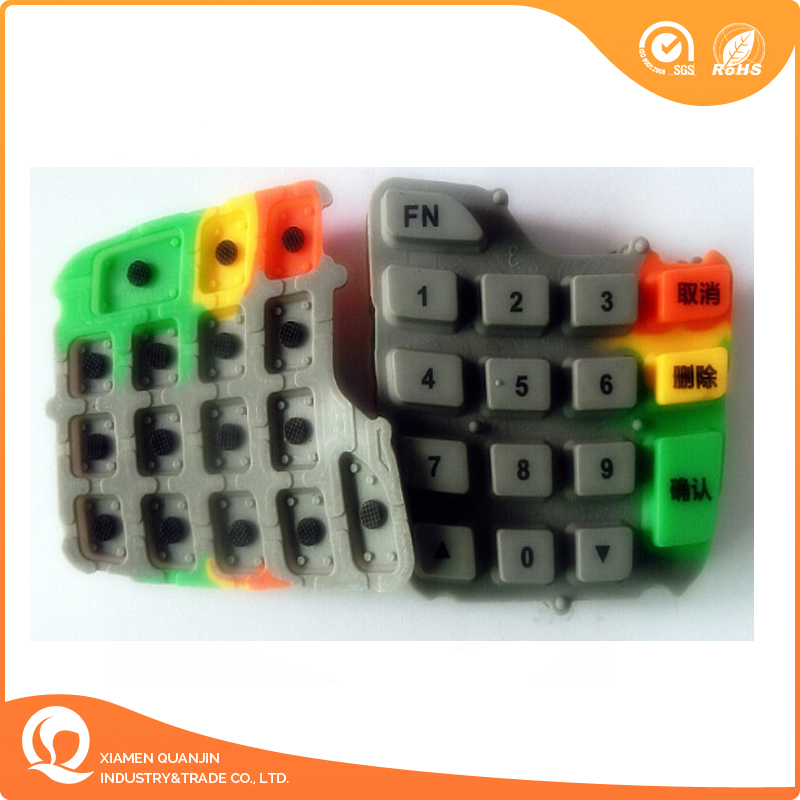 OEM Conductive Membrane Switch Silicone Rubber Keypad