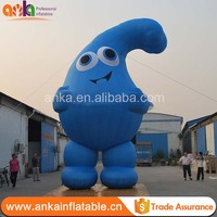 2017 New cartoon custom cute advertising inflatable water drop model for sale