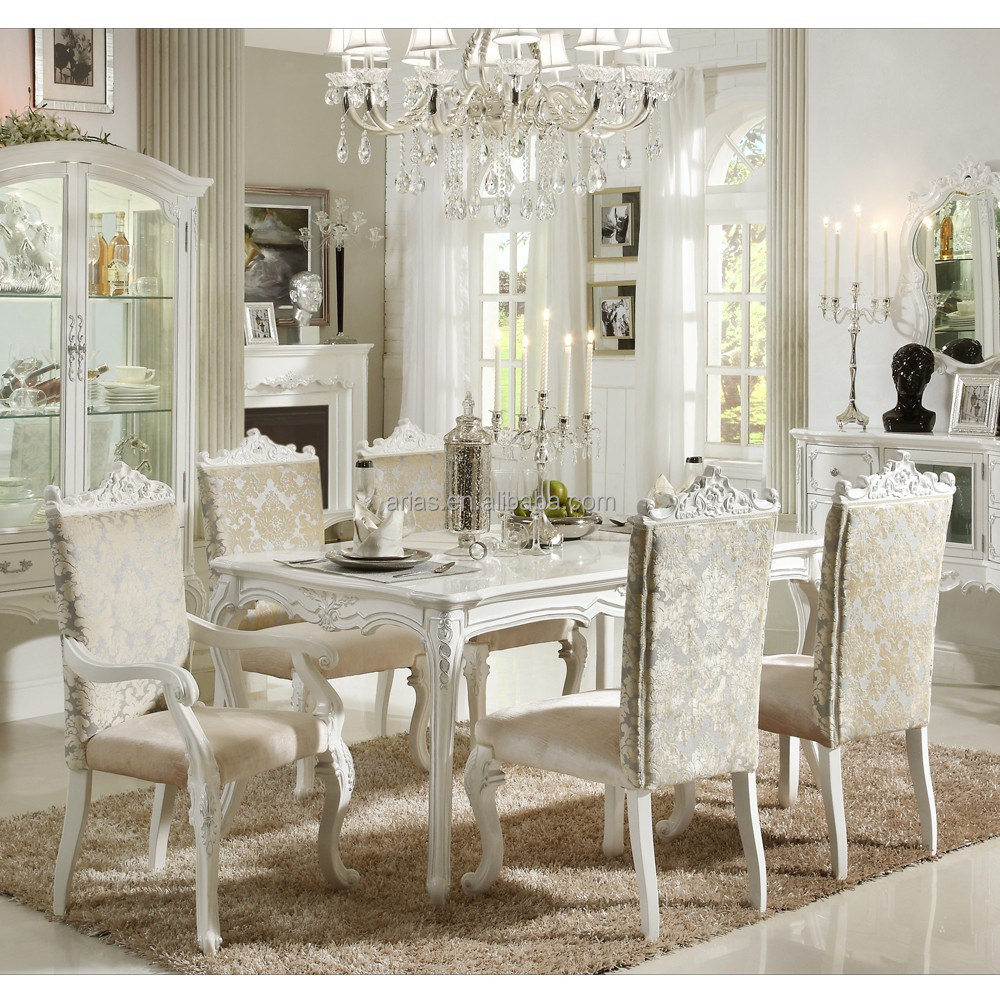 High Quality  Solid Wood Antique French Style Dining Table - Best quality dining room furniture