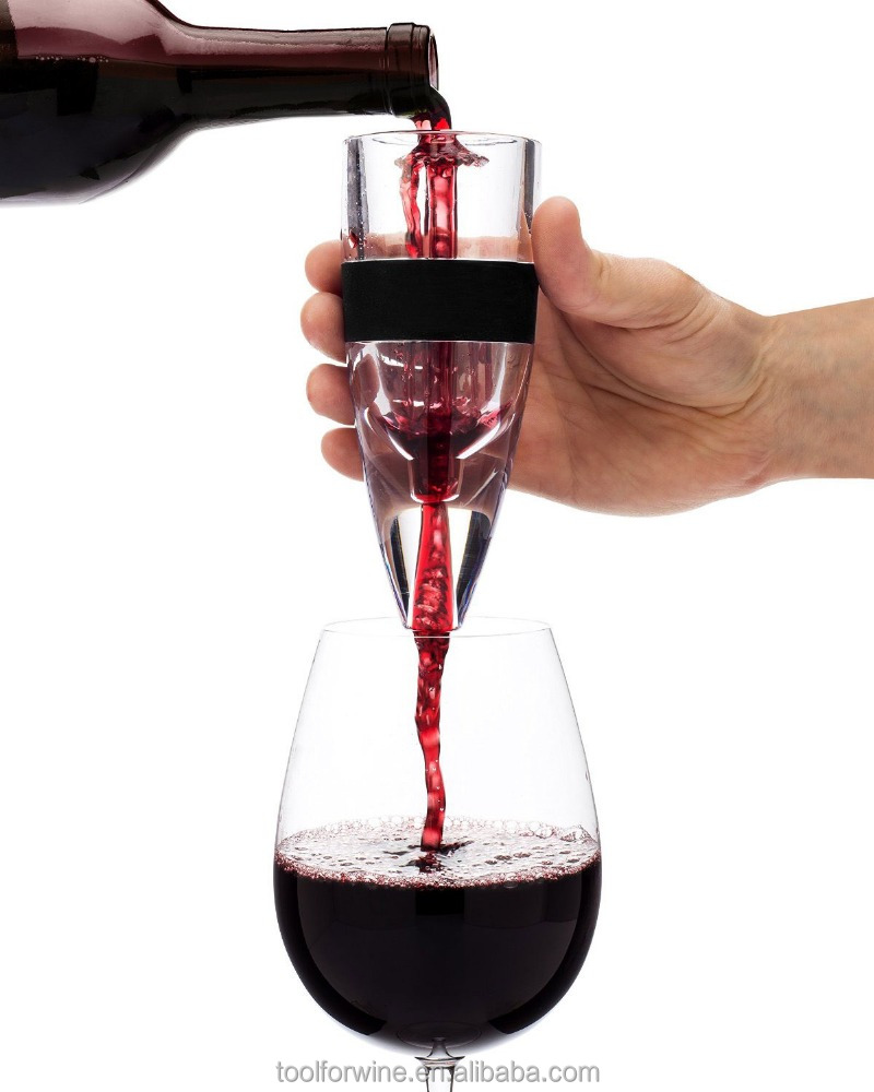 Magic decanter Wine Aerator - Professional Decanter with Stand and Travel Pouch