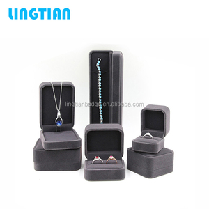LINGTIAN Wholesale Custom Velvet Jewellery Ring Display Box Jewelry Packaging Box