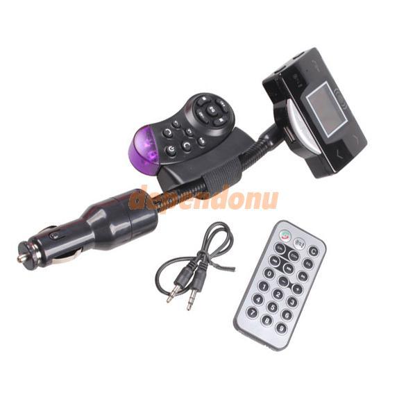 Зажигалка тип автомобильный комплект fm-mp3-плеер с рулевым управлением