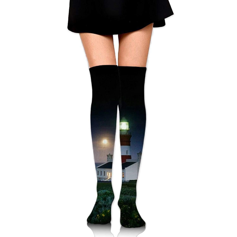 Zaqxsw Lighthouse Women Retro Thigh High Socks Cotton Socks For Teen Girls