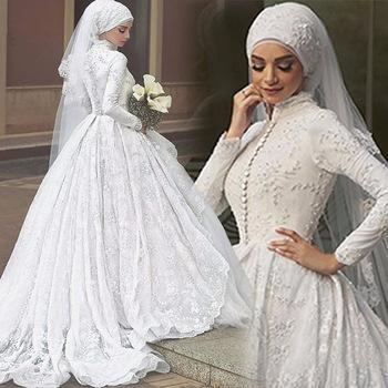 Z92769a 2017 New Luxurious High Quality Dubai Muslim Wedding Dress ...