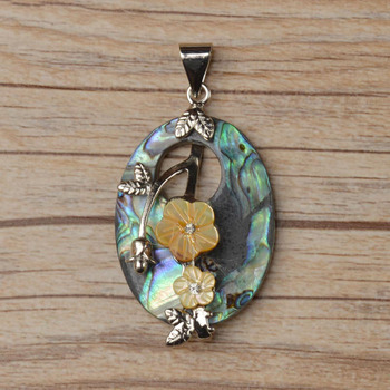 Flower carved oval abalone shell brass pendants wholesale buy oval flower carved oval abalone shell brass pendants wholesale aloadofball Image collections