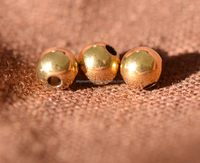 14K gold smooth little Jin Zhu Beads with beads DIY jewelry accessories wholesale direct deal