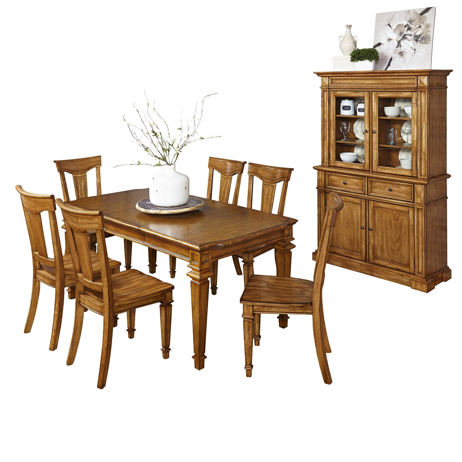 Home Styles 5004 3497 7 Piece Americana Dining Set With Buffet And Hutch