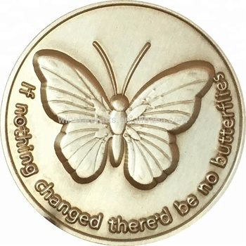 Butterflies Bronze Serenity Prayer Medallion Butterfly Pocket Token Antique  Gold Blank Coins God Gift, View Butterflies Bronze prayer pocket token, NS
