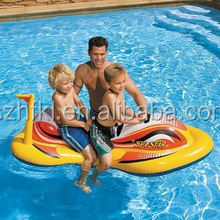 Customized 2 person Inflatable jet ski pool float for kids