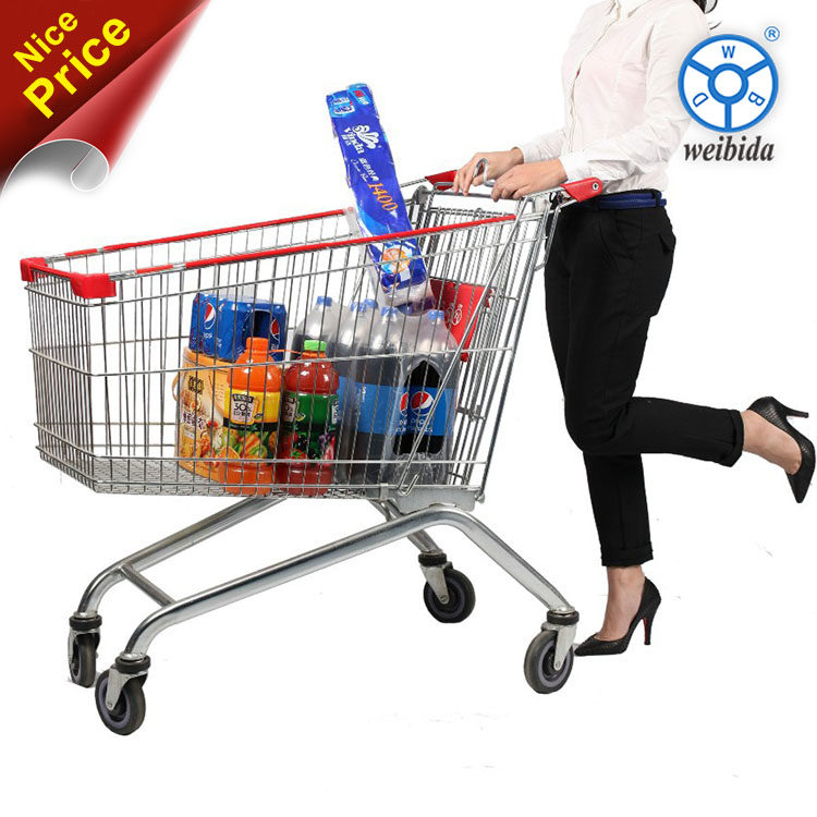 WBD Silence caster wheel supermaket shopping cart / shopping push cart