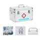 Portable Aluminum Medical Safety Box Empty First Aid Box