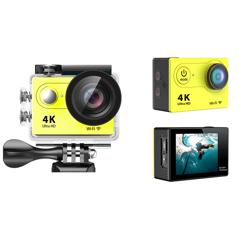 2017 Hot sale rotate camera auto focus 1080P underwater security action camera