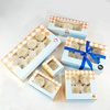 Custom Cheap Paper Packing Food Box For Cupcakes With Insert Factory Direct Sale