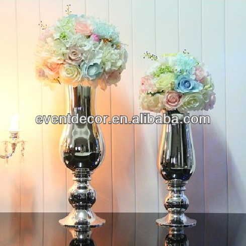Wedding Decoration Silver Flower Vases For Home Decor 1042 1043