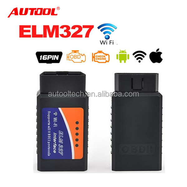 WIFI ELM327 Scanner v1.5 Auto Wireless OBD2 OBDII Adapter ELM 327 Interface OBD2 / OBD II Auto Car Diagnostic Scanner